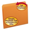 File Folders, Straight Cut, Reinforced Top Tab, Letter, Orange, 100/Box