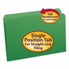File Folders, Straight Cut, Reinforced Top Tab, Legal, Green, 100/Box