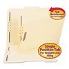 Folder, Two Fasteners, 2/5 Cut Right Center, Top Tab, Letter, Manila, 50/Box