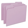 File Folders, 1/3 Cut Top Tab, Letter, Lavender, 100/Box
