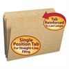Kraft File Folders, Straight Cut, Reinforced Top Tab, Legal, Kraft, 100/Box