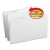 File Folders, 1/3 Cut, Reinforced Top Tab, Legal, White, 100/Box