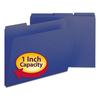 Smead Recycled Folders, One Inch Expansion, 1/3 Top Tab, Letter, Dark Blue, 25/Box