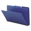 Smead Recycled Folders, One Inch Expansion, 1/3 Top Tab, Legal, Dark Blue, 25/Box