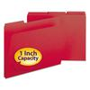 Smead Recycled Folders, One Inch Expansion, 1/3 Top Tab, Letter, Bright Red, 25/Box