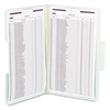 SuperTab Folders with SafeSHIELD Fasteners, 1/3 Cut, Legal, Gray/Green, 25/Box