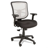 Alera Alera Elusion Series Mesh Mid-Back Swivel/Tilt Chair, Black/White