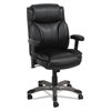 Veon Series Leather MidBack Manager's Chair w/Coil Spring Cushioning,Black