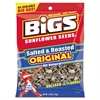 BIGS Sunflower Seeds, Salted, 5.35 oz Bag, 12/Carton