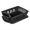2-Piece Drain Rack Sink Set, Black, Plastic, 14 5/8 x 21 x 3 1/2