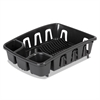 Office Settings Drain Rack, Black, Plastic, 5 3/8 x 17 5/8 x 3