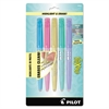 Pilot FriXion Light Pastel Collection Erasable Highlighters, Assorted, 5/Pack