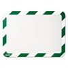 Tarifold High Visibility Safety Frame Display Pocket-Magnet Back, 10 1/4 x 14 1/2, GN/WH