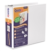 "QuickFit D-Ring View Binder, 3"" Capacity, 8 1/2 x 11, White"