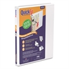 "Stride QuickFit D-Ring View Binder, 5/8"" Capacity, 8 1/2 x 11, White"