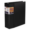 "QuickFit D-Ring Binder, 4"" Capacity, 8 1/2 x 11, Black"