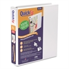 "Stride QuickFit D-Ring View Binder, 1 1/2"" Capacity, 8 1/2 x 11, White"