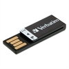 Clip-It USB 2.0 Flash Drive, 8GB, Black