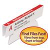 Viewables Hanging Folder Tabs, Angle View Refill, 3 1/2 Inch, White, 45/Pack