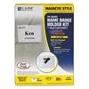 C-Line Magnetic Name Badge Holder Kit, Horizontal, 4w x 3h, Clear, 20/Box