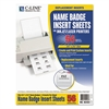 C-Line Name Badge Inserts, 3 1/2 x 2 1/4, White, 56/Pack