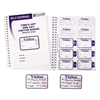 C-Line Time's Up Self-Expiring Visitor Badges w/Registry Log, 3 x 2, WE, 150 Badges/Box