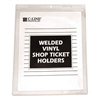 "Clear Vinyl Shop Ticket Holder, Both Sides Clear, 15"", 8 1/2 x 11, 50/BX"