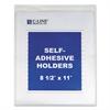 "Self-Adhesive Shop Ticket Holders, Heavy, 15"", 8 1/2 x 11"