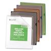 Deluxe Project Jacket Folders, Letter, Vinyl, Black/Blue/Clear/Green/Red, 35/Box