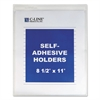 "Self-Adhesive Shop Ticket Holders, Heavy, 15"", 8 1/2 x 11, 50/BX"