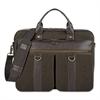 """SOLO Bradford Briefcase, 15.6"""", 16"""" x 3 3/4"""" x 12"""", Olive Denim/Espresso"""