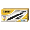 BIC REACTION Mechanical Pencil, .5mm, Black, Dozen
