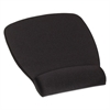 3M Antimicrobial Foam Mouse Pad Wrist Rest, Nonskid Base, Black