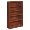 HON 1890 Series Bookcase, Five Shelf, 36w x 11 1/2d x 60 1/8h, Cognac