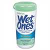 Wet Ones Hand Wipes for Sensitive Skin, 3 3/5 x 7 1/2, Fragrance-Free, 40/Canister, 12/Ct