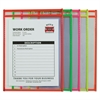 "C-Line Stitched Shop Ticket Holder, Neon, Assorted 5 Colors, 75"", 9 x 12, 10/PK"