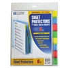 "Sheet Protectors with Index Tabs, Assorted Color Tabs, 2"", 11 x 8 1/2, 8/ST"