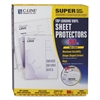 "Super Heavyweight Vinyl Sheet Protector, Nonglare, 2"", 11 x 8 1/2, 50/BX"