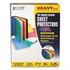 "C-Line Colored Polypropylene Sheet Protector, Assorted Colors, 2"", 11 x 8 1/2, 50/BX"