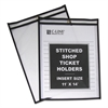"C-Line Shop Ticket Holders, Stitched, Both Sides Clear, 75"", 11 x 14, 25/BX"