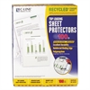 "Recycled Polypropylene Sheet Protector, Reduced Glare, 2"", 11 x 8 1/2, 100/BX"