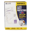 "C-Line Super Heavyweight Polypropylene Sheet Protector, Clear, 2"", 11 x 8 1/2, 50/BX"