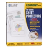 "C-Line Economy Weight Poly Sheet Protector, Reduced Glare, 2"", 11 x 8 1/2, 100/BX"