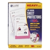 "C-Line Heavyweight Polypropylene Sheet Protector, Non-Glare, 2"", 11 x 8 1/2, 100/BX"