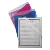 C-Line Project Folders with Dividers, Letter, 1/3 Tab, Clear/Colored, 5/PK