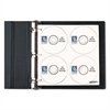 CD/DVD Refillable D-Ring Binder Kit, Holds 80 Discs, Black