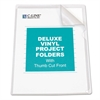 Deluxe Project Folders, Jacket, Letter, Vinyl, Clear, 50/Box