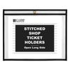 "Shop Ticket Holders, Stitched, Both Sides Clear, 75"", 12 x 9, 25/BX"