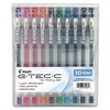 Pilot G-TEC-C Ultra Gel Ink Stick Pen, Assorted Ink, .4mm, 10/Pack