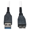 USB 3.0 Device Cable, USB 3.0 A/USB 3.0 Micro-B, 1 ft, Black
